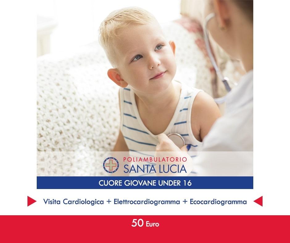 under 16 promozione visita cardiologica elettrocardiogramma ecocardiogramma galatone
